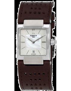 Chic Time   Montre Femme Tissot T02 T0903101611100 Bracelet en cuir marron perforé    Prix : 479,99€