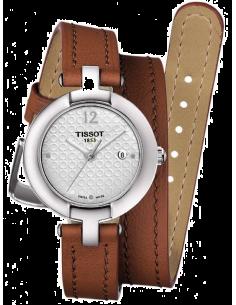 Chic Time   Montre Femme Tissot Pinky T0842101601704 Bracelet long et fin en cuir marron    Prix : 249,99€