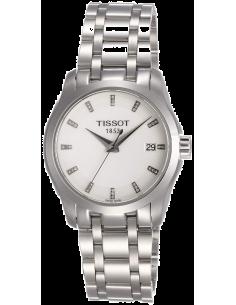 Chic Time | Montre femme Tissot Couturier Quartz T0352101101600 Bracelet en acier inoxydable  | Prix : 679,99€