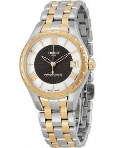 Chic Time | Montre Femme Tissot Lady T072 T0722072211802 Bracelet en acier argenté et or rose  | Buy at best price