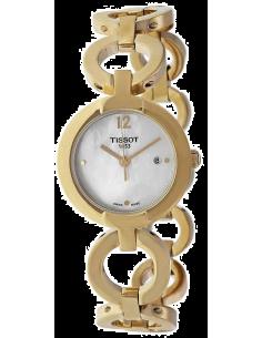 Chic Time | Montre Femme Tissot Pinky T0842103311700 Bracelet en acier inoxydable doré  | Prix : 319,99€