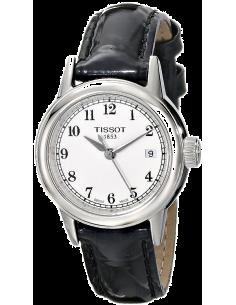 Chic Time | Montre Femme Tissot Carson T0852101601200 - Bracelet Cuir Noir  | Prix : 329,99€