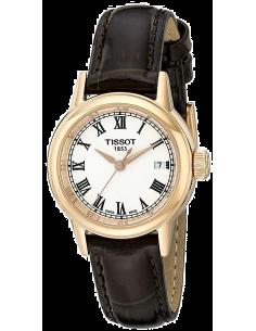 Chic Time | Montre Femme Tissot Carson T0852103601300 - Bracelet Cuir Brun  | Prix : 329,99€