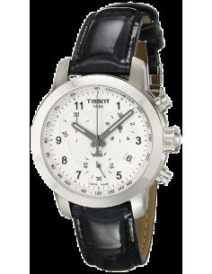 Chic Time | Montre Femme Tissot PRC 200 T0552171603202 - Bracelet en cuir noir  | Prix : 366,67€