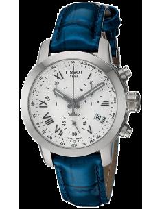 Chic Time   Montre Femme Tissot PRC 200 T0552171603300 - Bracelet en cuir bleu    Prix : 437,99€