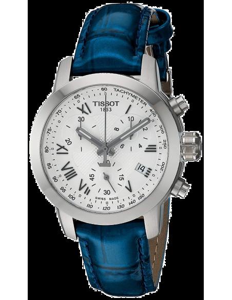 Chic Time | Montre Femme Tissot PRC 200 T0552171603300 - Bracelet en cuir bleu  | Prix : 437,99€
