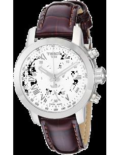 Chic Time   Montre Femme Tissot PRC 200 T0552171603301 - Bracelet en cuir marron    Prix : 499,99€