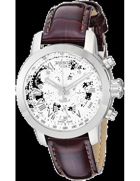 Chic Time | Montre Femme Tissot PRC 200 T0552171603301 - Bracelet en cuir marron  | Prix : 499,99€