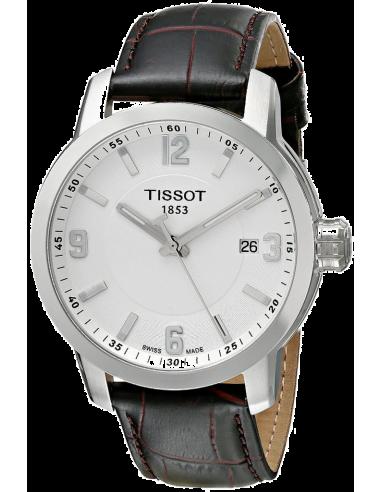 Chic Time   Montre Homme Tissot PRC 200 T0554101601701 à Cadran blanc et Bracelet marron    Prix : 439,00€