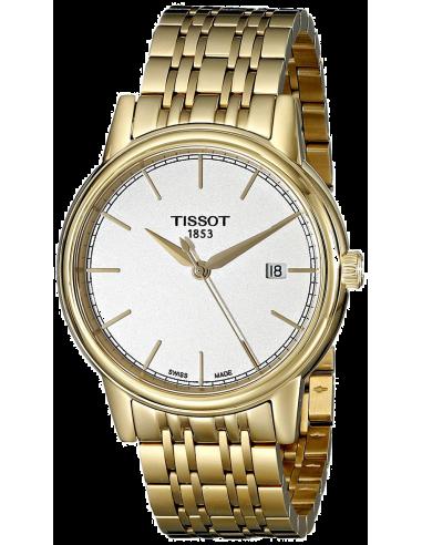 Chic Time | Montre Homme Tissot Carson T0854103302100 - Bracelet Acier Inoxydable doré  | Prix : 370,00€