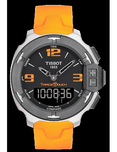 Chic Time   Montre Homme Tissot T-Race Touch T0814201705702 Bracelet caoutchouc orange    Prix : 480,00€
