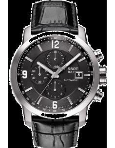 Chic Time | Montre Homme Tissot PRC 200 Automatique T0554271605700 Bracelet cuir noir  | Prix : 880,00€