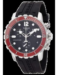 Chic Time | Montre Homme Tissot Seastar 1000 T0664171705701 Lunette rouge en céramique  | Prix : 570,00€