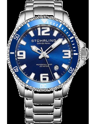 Chic Time | Montre Homme Stuhrling Original Aquadiver 395.33U16 Argent  | Prix : 146,30€
