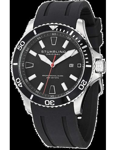 Chic Time | Montre Homme Stuhrling Original Aquadiver 706.01 Noir  | Prix : 146,30€