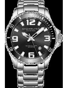 Chic Time | Montre Homme Stuhrling Original Aquadiver 395.33B11 Argent  | Prix : 146,30€
