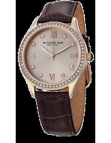 Chic Time | Montre Femme Stuhrling Original Vogue 431.05 Marron  | Prix : 233,40€