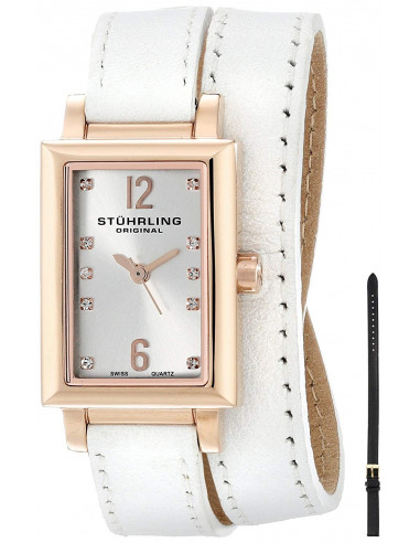 Chic Time | Montre Femme Stuhrling Original Vogue 810.SET.03 Blanc  | Prix : 197,40 €