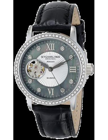 Chic Time | Montre Femme Stuhrling Original Vogue 710.02 Noir  | Prix : 275,40€