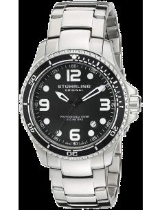 Chic Time | Montre Homme Stuhrling Original Aquadiver 593.332D11 Argent  | Prix : 160,30€