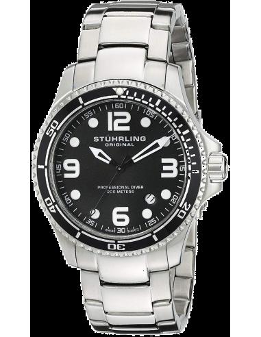 Chic Time   Montre Homme Stuhrling Original Aquadiver 593.332D11 Argent    Prix : 160,30€