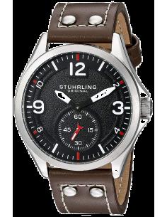 Chic Time | Montre Homme Stuhrling Original Aviator 684.01 Marron  | Prix : 167,30€