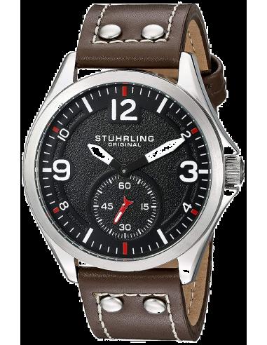 Chic Time   Montre Homme Stuhrling Original Aviator 684.01 Marron    Prix : 167,30€