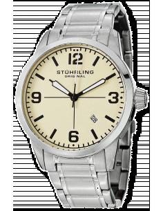 Chic Time | Montre Homme Stuhrling Original Aviator 449B.331115 Argent  | Prix : 195,30€