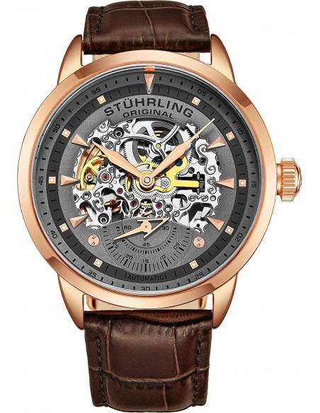 Chic Time | Montre Homme Stuhrling Original Legacy 133.3345K54 Marron  | Prix : 209,40€