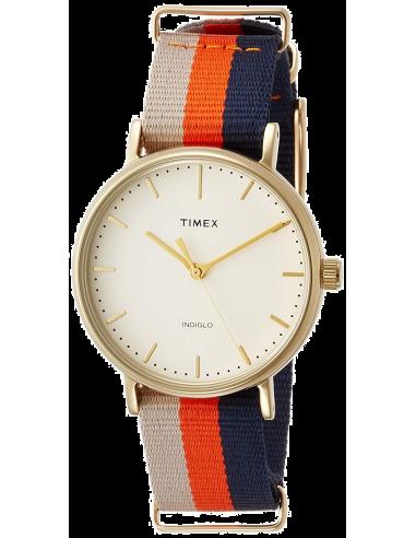 Chic Time | Montre Femme Timex Weekender Fairfield TW2P91600 Orange  | Prix : 69,30€