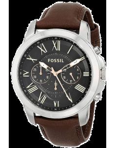 Chic Time | Montre Homme Fossil Grant FS4813 Bracelet Cuir Marron  | Prix : 159,00€