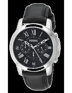 Chic Time | Montre Homme Fossil Grant FS4812 Bracelet Cuir Noir  | Prix : 126,75€