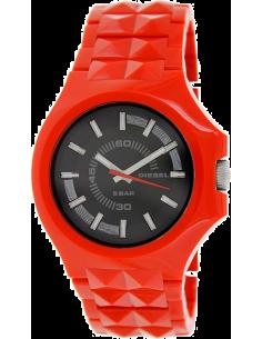Chic Time | Montre Homme Diesel Stud DZ1647 Bracelet rouge à clous carrés  | Prix : 135,15€