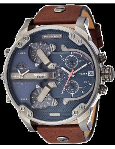 Chic Time | Montre Homme Diesel Mr Daddy 2.0 DZ7314 Cuir brun et cadran bleu  | Prix : 189,00€