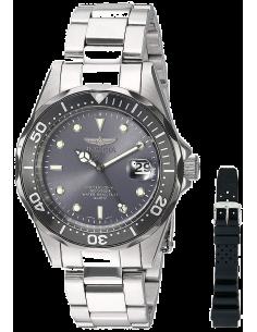 Chic Time | Montre Homme Invicta Pro Diver 12812 Bracelet Argenté En Acier Inoxydable  | Prix : 119,40€