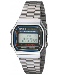Chic Time | Montre Homme Casio Collection A168WA-1YES Argent  | Prix : 35,00€