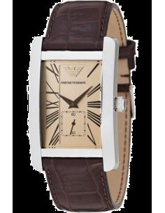 Chic Time | Montre Emporio Armani AR0155 analogique cuir marron  | Prix : 207,20€