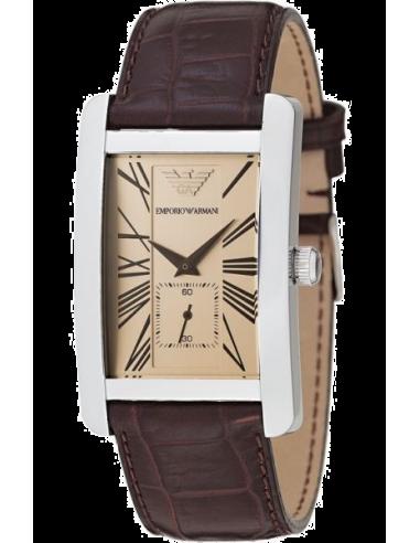 Chic Time   Montre Emporio Armani Classic AR0155 analogique cuir marron    Prix : 129,50€