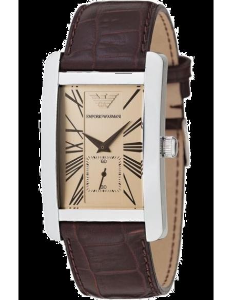 Chic Time | Montre Emporio Armani AR0155 analogique cuir marron  | Prix : 123,00€