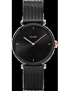 Chic Time | Montre Femme Cluse Triomphe Noir et Or Rose CL61004  | Prix : 89,25€
