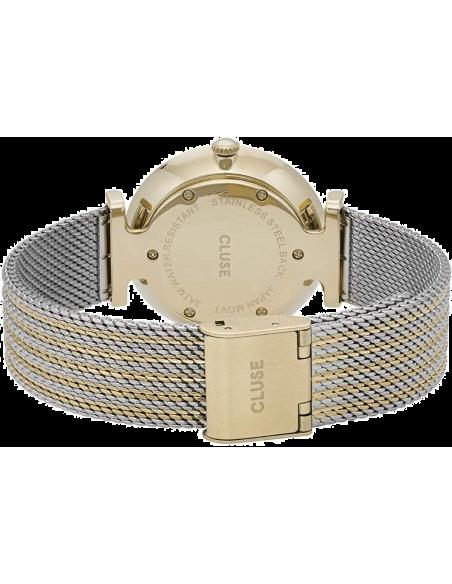 Chic Time | Montre femme Cluse Triomphe Gold Bicolour Mesh CL61002  | Prix : 71,44€