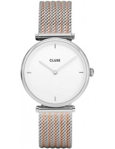 Chic Time | Montre Femme Cluse Triomphe Silver Bicolour Mesh CL61001  | Prix : 64,97€