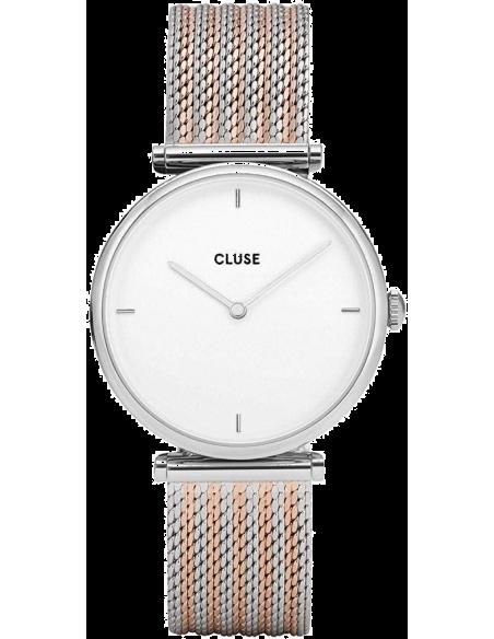 Chic Time | Montre Femme Cluse Triomphe Silver Bicolour Mesh CL61001  | Prix : 69,97€