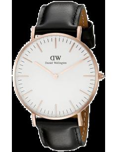 Chic Time | Montre Daniel Wellington Classic Sheffield 36 mm DW00100036 Noir  | Prix : 101,40€