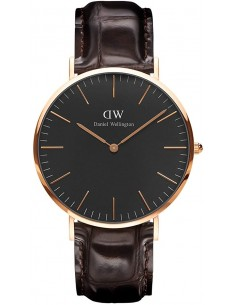 Chic Time | Montre Homme Daniel Wellington Classic Black York Rose Gold DW00100128  | Prix : 113,40 €