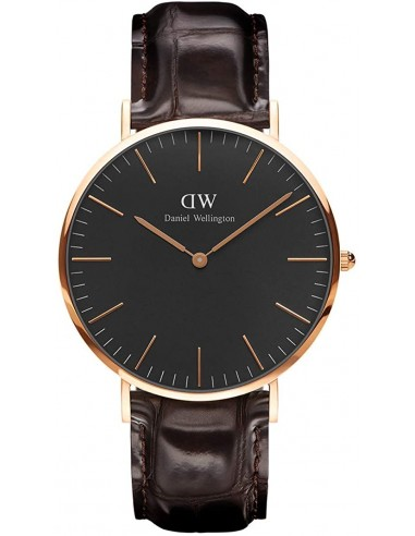 Chic Time | Montre Homme Daniel Wellington Classic Black York Rose Gold DW00100128  | Prix : 94,50 €