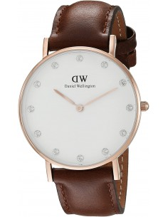 Chic Time | Montre Daniel Wellington Classy St Mawes 34 mm DW00100075 Marron  | Prix : 101,40 €