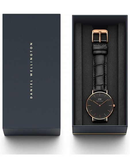 Chic Time | Montre Homme Daniel Wellington Classic Black DW00100129 Noir  | Prix : 113,40€