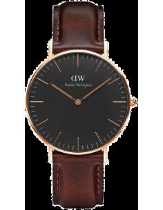 Chic Time | Montre Femme Daniel Wellington Classic Black Bristol Rose Gold DW00100137  | Prix : 101,40€