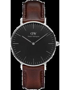 Chic Time | Montre Daniel Wellington Classic Black Bristol Silver DW00100131  | Prix : 132,30€